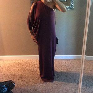 Never worn Bcbg burgundy gown size XS